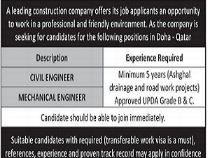 REQUIRED CIVIL ENGINEER.MECHANICAL ENGINEER